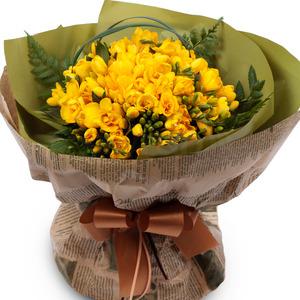 후리지아노란색꽃다발(겨울상품)
