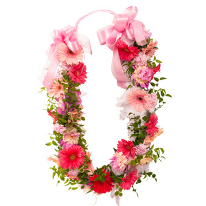 분홍 꽃목걸이(예약상품)